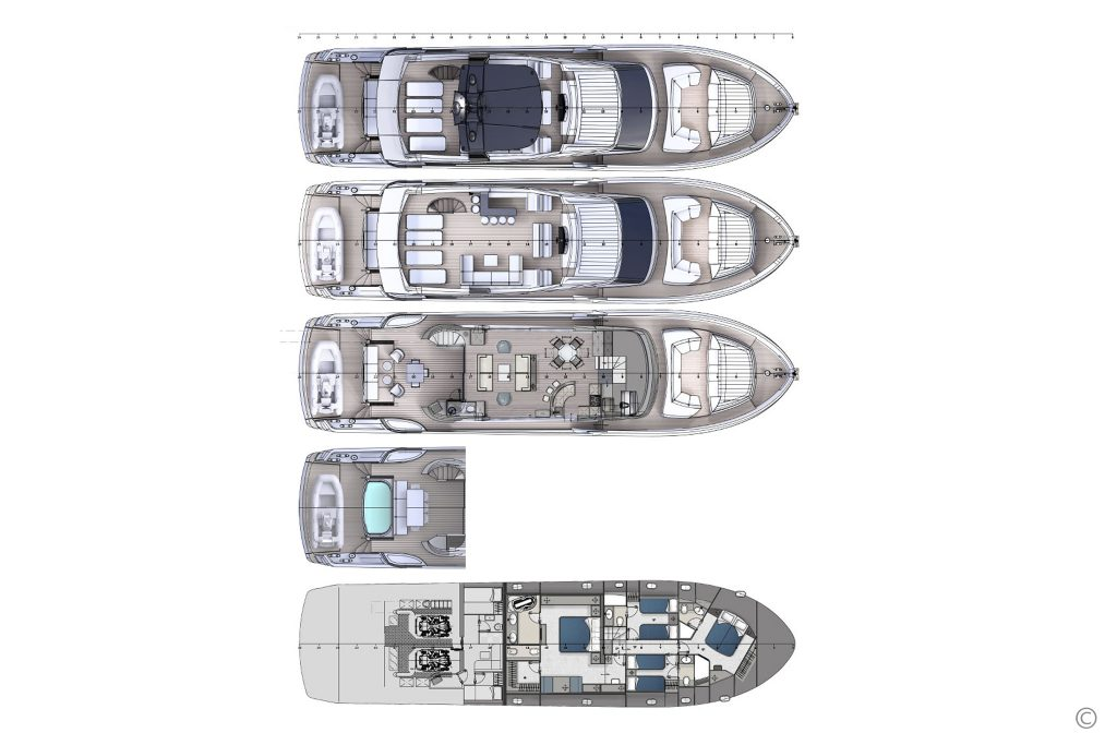 Yachts for Sale in London UK - Grosvenor Yachts - Austin Parker AL 86 Fly