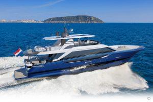 Yachts for Sale in London UK - Grosvenor Yachts - Van der Valk Flybridge 25.5m