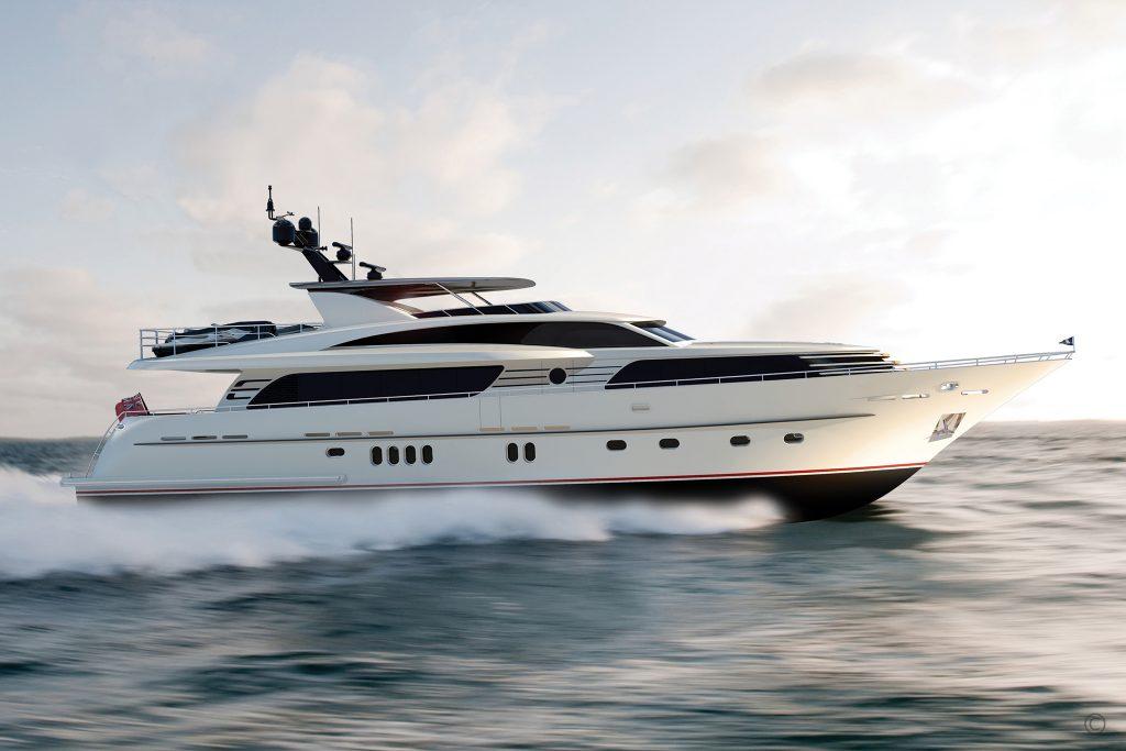 Yachts for Sale in London UK - Grosvenor Yachts - Van der Valk Raised Pilothouse 30m