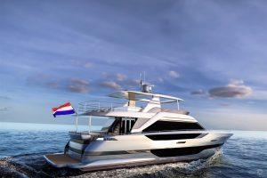 Yachts for Sale in London UK - Grosvenor Yachts - Van der Valk Flybridge 24m